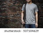 man wearing t shirt  with... | Shutterstock . vector #537104629