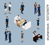 isometric people isometric... | Shutterstock .eps vector #537105079