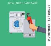plumbing service  installation... | Shutterstock .eps vector #537105139