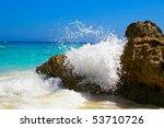 Water Splashing Against Ocean ...