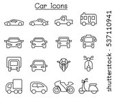 car icon in thin line style | Shutterstock .eps vector #537110941
