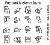 payment   money icon set in... | Shutterstock .eps vector #537112501