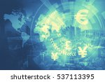 duo tone graphic of financial... | Shutterstock . vector #537113395