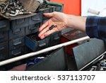 seal. the workshop mechanics ... | Shutterstock . vector #537113707