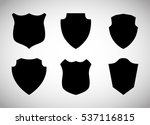 assorted shield silhouette... | Shutterstock .eps vector #537116815