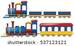 trains with two types of wagons ... | Shutterstock .eps vector #537123121