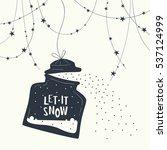 cover design. christmas snow... | Shutterstock .eps vector #537124999