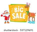 christmas sale design. santa... | Shutterstock .eps vector #537129691