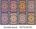 collection retro cards. ethnic... | Shutterstock .eps vector #537134191
