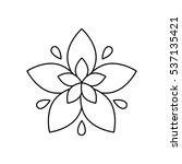 beautiful flower gardening icon ... | Shutterstock .eps vector #537135421