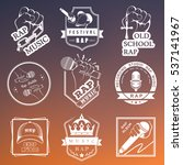 set of  logos  badges and... | Shutterstock . vector #537141967