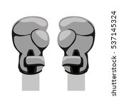 boxing gloves sport equipment... | Shutterstock .eps vector #537145324