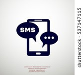 mobile phone sms  icon vector. | Shutterstock .eps vector #537147115