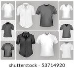 black and white sporty polo... | Shutterstock .eps vector #53714920