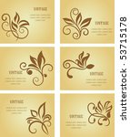 set of business cards in... | Shutterstock .eps vector #53715178