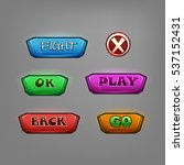set of cartoon buttons for game....