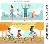 active family horizontal...   Shutterstock .eps vector #537152545