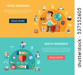 medical and journey insurance... | Shutterstock .eps vector #537152605