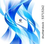 Stylish abstract blue business background with white space - stock vector