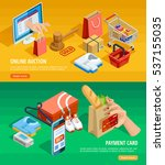 safe shopping online with... | Shutterstock .eps vector #537155035