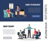 two horizontal psychologist... | Shutterstock .eps vector #537155071