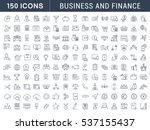 set  line icons in flat design... | Shutterstock . vector #537155437