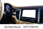 blank modern car's display... | Shutterstock . vector #537158191
