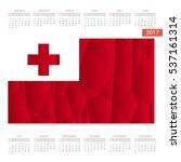 2016 calendar. tonga country... | Shutterstock .eps vector #537161314