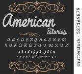 handcrafted vector script...   Shutterstock .eps vector #537169879