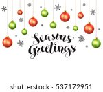 happy holidays greeting card... | Shutterstock .eps vector #537172951