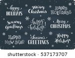 hand written new year phrases.... | Shutterstock .eps vector #537173707