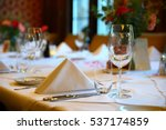table setting for a lovey... | Shutterstock . vector #537174859