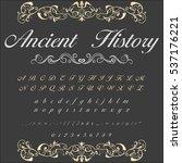 handcrafted vector script... | Shutterstock .eps vector #537176221