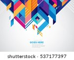 vector of modern abstract... | Shutterstock .eps vector #537177397