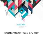 vector of modern abstract... | Shutterstock .eps vector #537177409