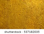 gold paint on cement wall... | Shutterstock . vector #537182035
