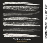 chalk and charcoal. a set of... | Shutterstock .eps vector #537184159