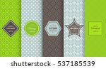 bright retro seamless pattern... | Shutterstock .eps vector #537185539