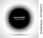 black abstract vector circle...   Shutterstock .eps vector #537186511