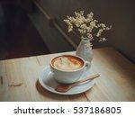 coffee latte art in coffee shop ... | Shutterstock . vector #537186805