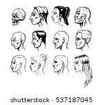 set of different male and...   Shutterstock .eps vector #537187045