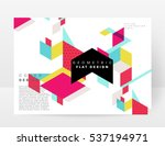 geometric background template... | Shutterstock .eps vector #537194971