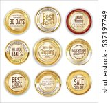 luxury golden labels collection | Shutterstock .eps vector #537197749