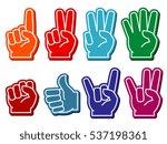 foam fingers set. gesture... | Shutterstock . vector #537198361