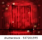 open red curtains with neon... | Shutterstock .eps vector #537201595