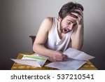 man freaking out over his... | Shutterstock . vector #537210541