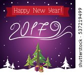 postcard happy new year  | Shutterstock .eps vector #537219499