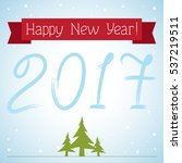 postcard happy new year  | Shutterstock .eps vector #537219511