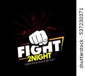 modern professional fighting... | Shutterstock .eps vector #537230371