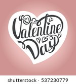 happy valentines day card... | Shutterstock .eps vector #537230779